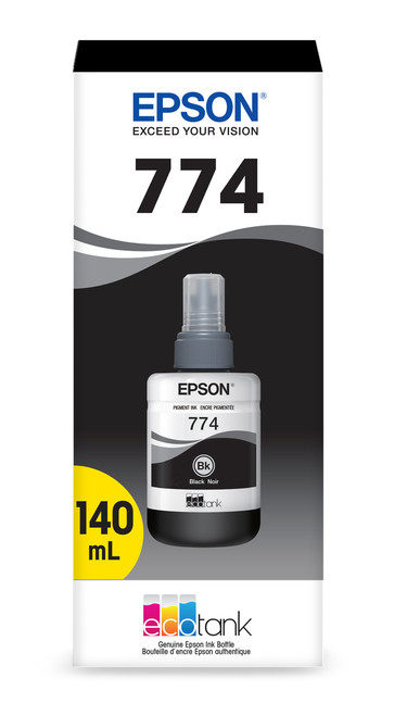 Epson WorkForce ET-16500 Pigment Black 140ml Ink Bottle - Sensormatic (T774120-S)