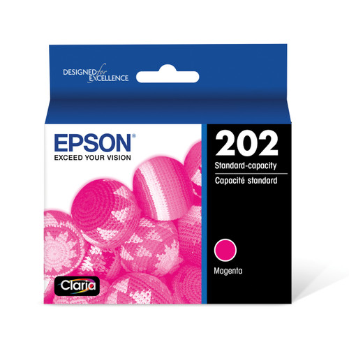 Epson T202 DuraBrite Ultra Ink Cartridge, Magenta, with Sensor/WF-2860, XP-5100