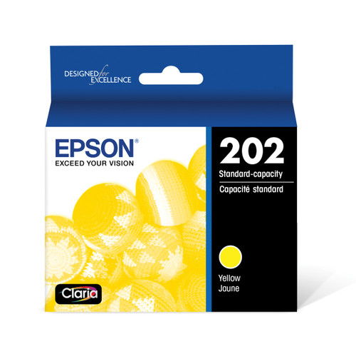 Epson T202 DuraBrite Ultra Ink Cartridge, Yellow, with Sensor/WF-2860, XP-5100