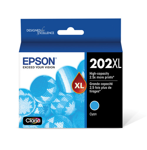 Epson T202XL DuraBrite Ultra, High Capacity Ink, Cyan, with Sensor/WF-2860, XP-5100