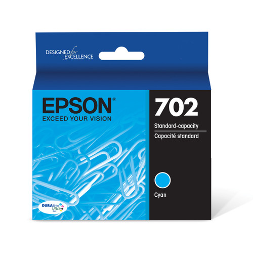 Epson DURABrite Ultra Cyan Ink Cartridge with Sensormatic WF-3720