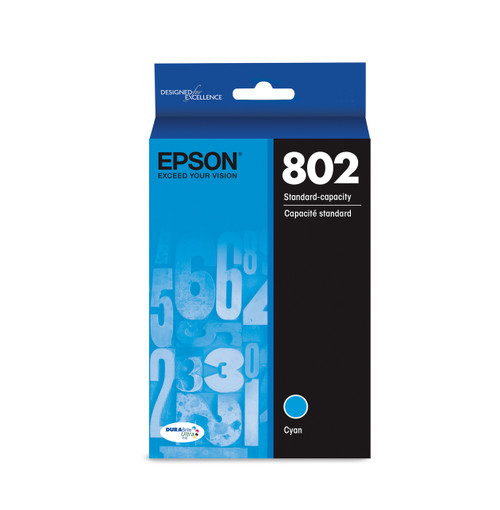 Epson 802 Standard Cyan Ink, 650 pages T802220-S