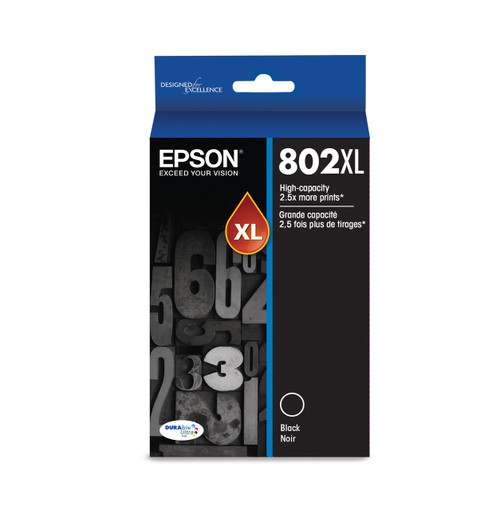 Epson 802XL High-capacity Black Ink, 2600 pages T802XL120-S