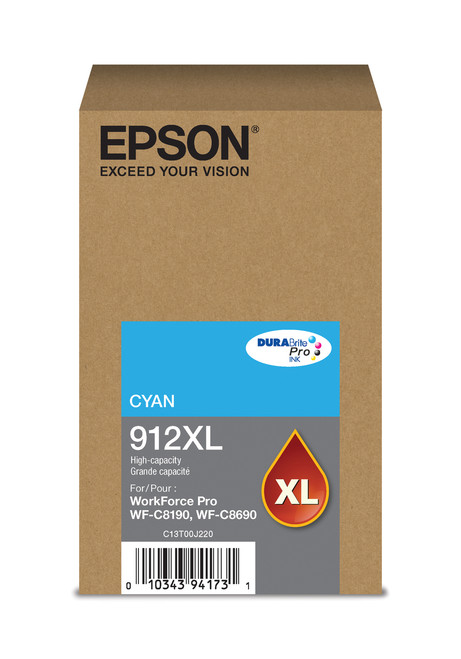 Epson WorkForce Pro T912  High Capacity Cyan Ink 4,600 Pages Yield