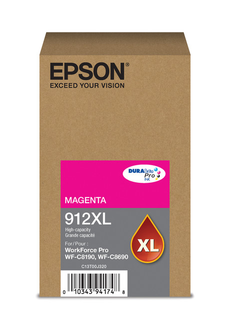 Epson WorkForce Pro T912XL High Capacity Magenta Ink 4,600 Page Yield