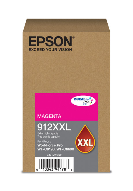Epson WorkForce Pro T912XXL Extra High Capacity Magenta Ink 8,000 Page Yield