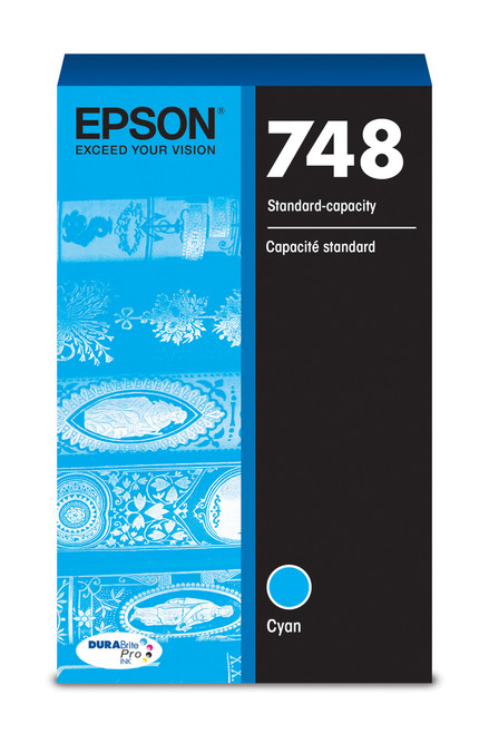 Epson WorkForce Pro 748 Standard Capacity Cyan Ink 1,500 Page Yield (T748220)