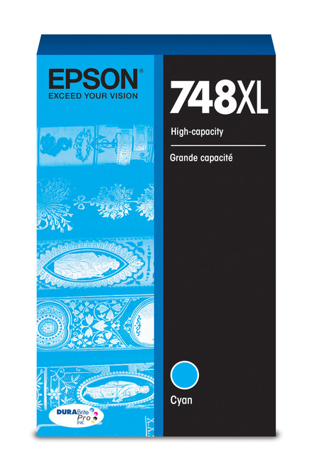 Epson WorkForce Pro 748 High Capacity Cyan Ink (4,000 Page Yield) (T748XL220)