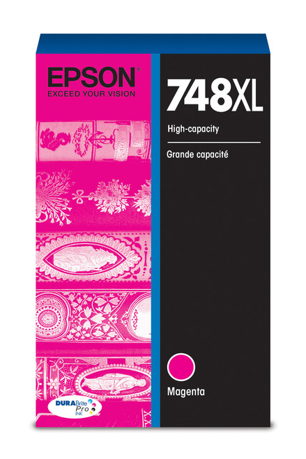 Epson WorkForce Pro 748 High Capacity Magenta Ink (4,000 Page Yield) (T748XL320)