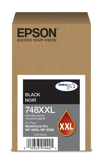 Epson WorkForce Pro 748 Extra High Capacity Black Ink for WF-6090/6590
