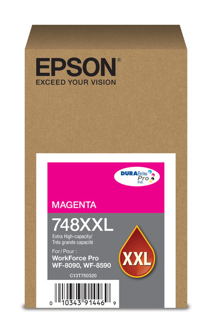Epson WorkForce Pro 748 Extra High Capacity Magenta Ink for WF-6090/6590