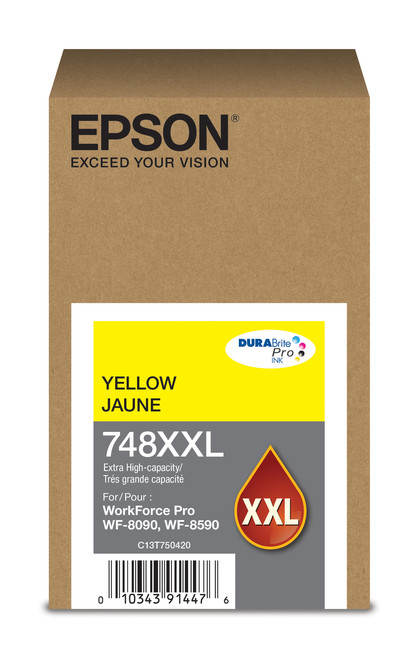 Epson WorkForce Pro 748 Extra High Capacity Yellow Ink for WF-6090/6590