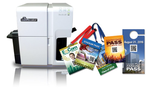 Swiftcolor SCC-4000D Oversized Credential Color Inkjet Card | Label Printer