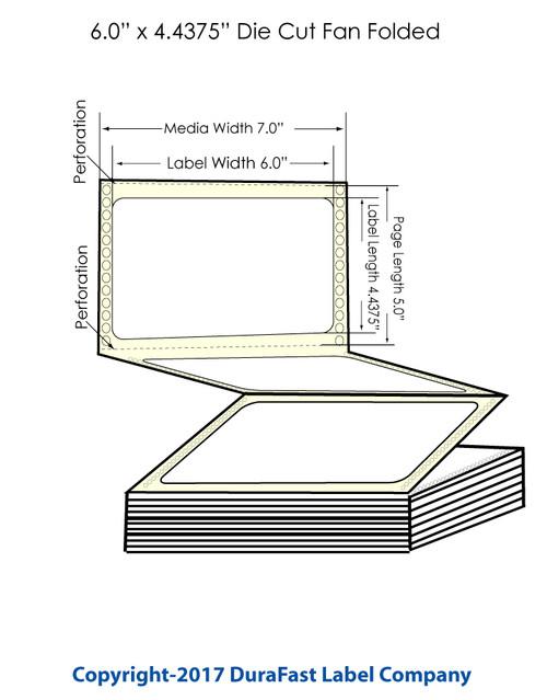 "DuraFast 6"" x 4 7/16"" Chemical Labels for Epson GP-C831 Label Printer - 1,200/Carton"