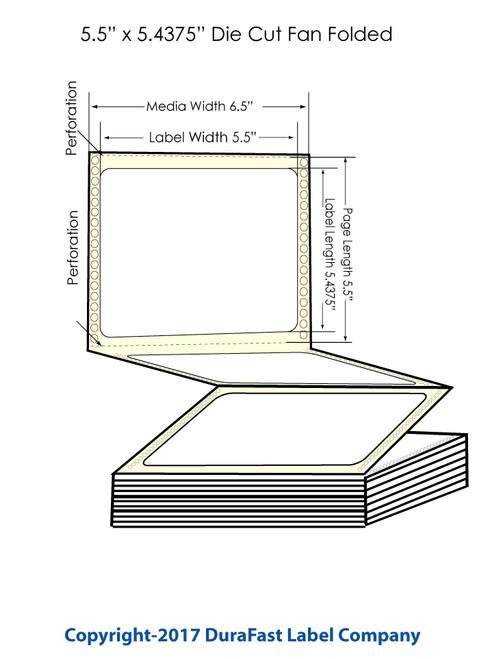 "DuraFast 5 1/2"" x 5 7/8""Matte Labels for Epson GP-C831 Label Printer - 1,700/Carton"