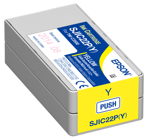 Epson TM-C3500 Yellow Ink Cartridge SJIC22P(Y)