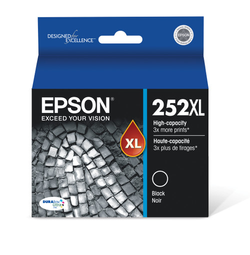 Epson DURABrite?? Ultra Ink T252XL High-capacity Black ink cartridges (T252XL120)