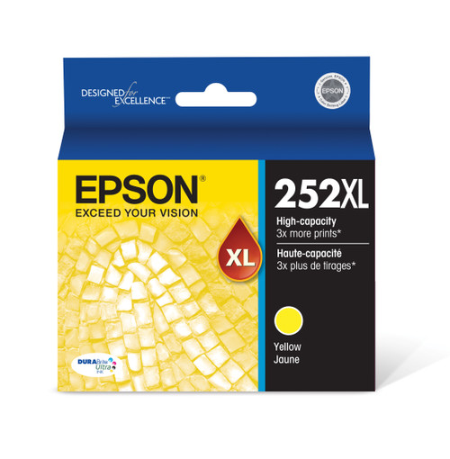 Epson DURABrite® Ultra Ink T252XL High-capacity Yellow ink cartridges (T252XL420)