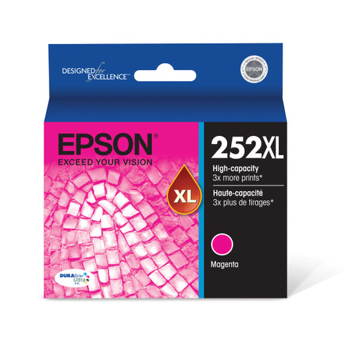 Epson DURABrite?? Ultra Ink T252XL High-capacity Magenta ink cartridges (T252XL320)