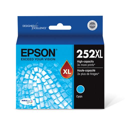Epson DURABrite® Ultra Ink T252XL High-capacity Cyan ink cartridges (T252XL220)