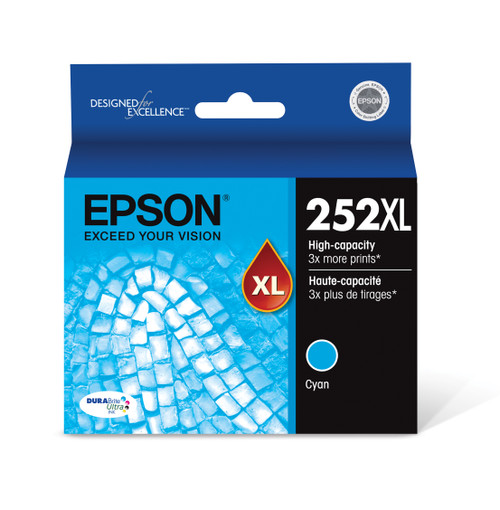 Epson DURABrite?? Ultra Ink T252XL High-capacity Cyan ink cartridges (T252XL220)