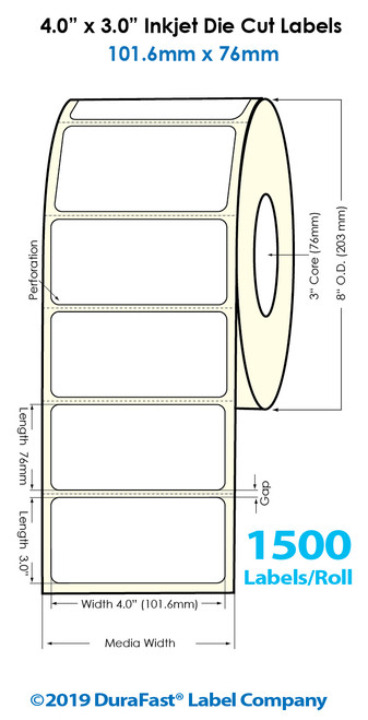 """Inkjet 4""""x3"""" GHS BS5609 Chemical Labels 