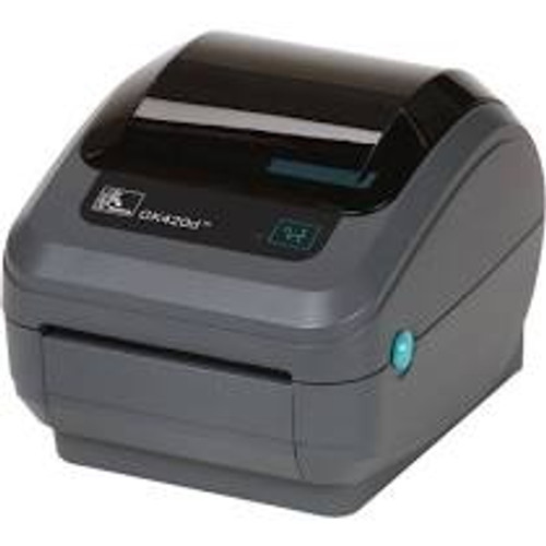 "Zebra GK420T 203 dpi Desktop Thermal Transfer Label Printer 4""/Ethernet/Dispenser (ZEB-GK42-102211-000)"