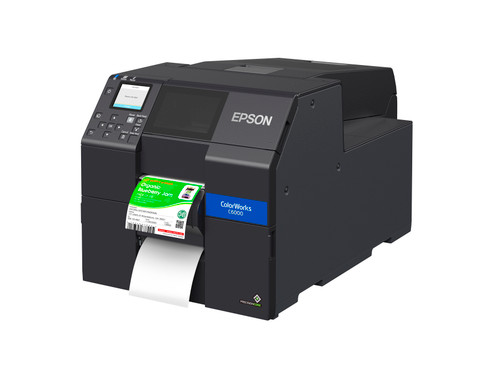 "Epson ColorWorks CW-C6000P 4"" Color Inkjet Label Printer with Peel-and-Present"