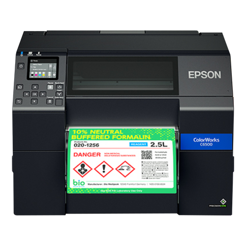 Epson CW-C6500P 8 inch color label printer - Peeler