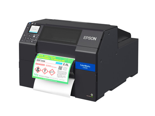 ColorWorks® CW-C6500P Color Inkjet Label Printer with Peel-and-Present
