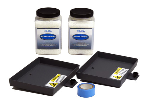 Smaller container kit for the AP550 flat surface label applicator
