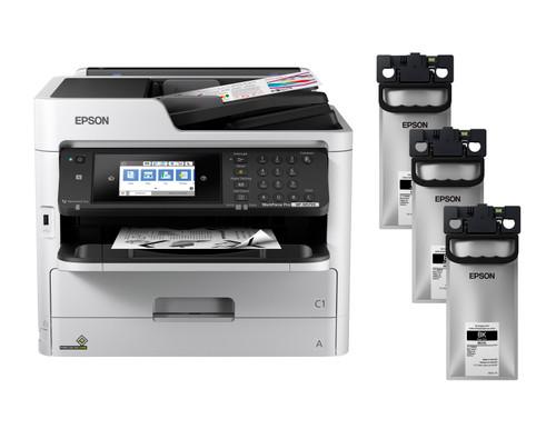 Epson WorkForce Pro WF-M5799 Monochrome Printer + MO2XL Ink Bundle (C11CG04201-LB