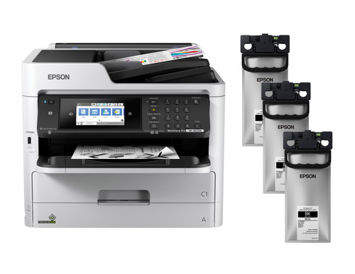 Epson WorkForce Pro WF-M5799 Monochrome Printer + MO2XL Ink Bundle (C11CG04201-LB