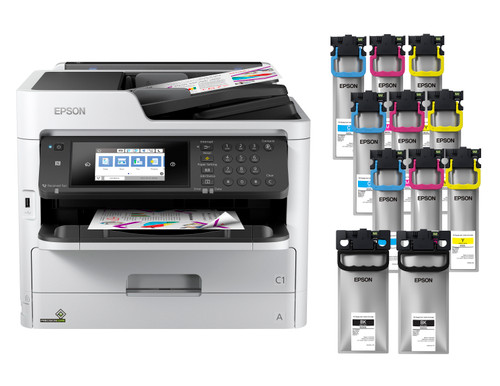 Epson WorkForce Pro WF-C5790 Colour MFP Supertank + Large Ink Bundle (C11CG02201-LB)