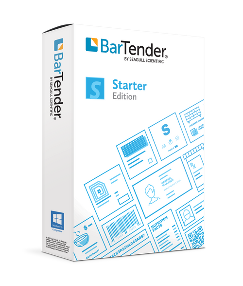 BarTender 2021 Starter: Application License + 2 Printer (3 Yrs)