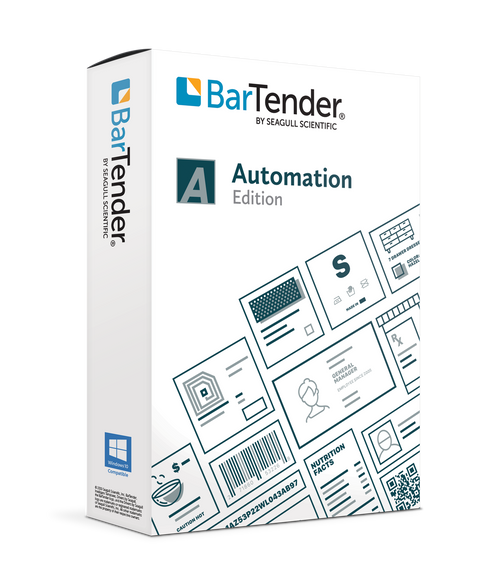 BarTender 2021 Automation: Application License + 10 Printers (1 Year Maintenance)