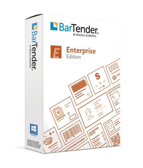 BarTender 2021 Enterprise: Application License + 5 Printers  (3 Yr Maintenance)