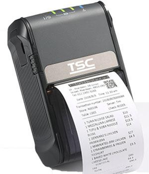 """TSC Alpha-2R 2.0"""" 203 dpi 4 ips Linerless Mobile Direct Thermal Label Printer 99-062A024-0A11"""