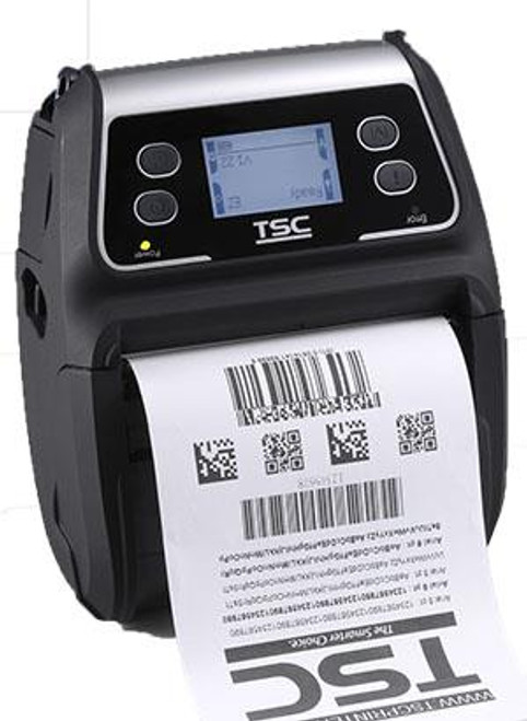 """TSC Alpha-4L 4.0"""" 203 dpi 4 ips Linerless Mobile Direct Thermal Label Printer 99-052A003-0411"""