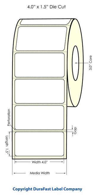 """Primera LX900 4"""" x 1.5"""" High Gloss Label Roll"""