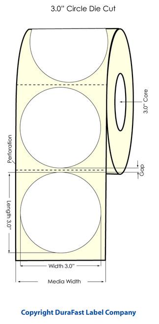 "Primera LX900 3"" Circle High Gloss Label Roll"