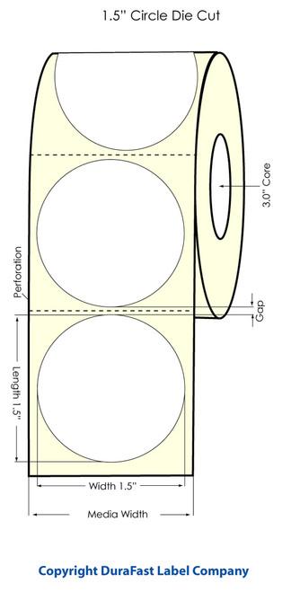 "Primera LX900 1.5"" Circle High Gloss Label Roll"