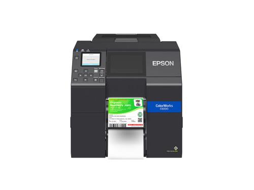 "Epson ColorWorks CW-C6000P Gloss Colour Inkjet Label Printer Peeler 4"""