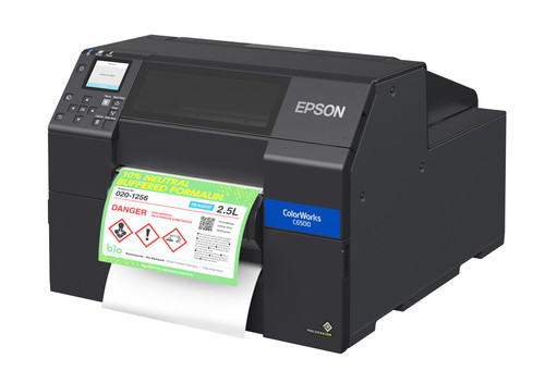 Epson ColorWorks CW-C6500P Matte Colour Inkjet Label Printer Peeler 8""