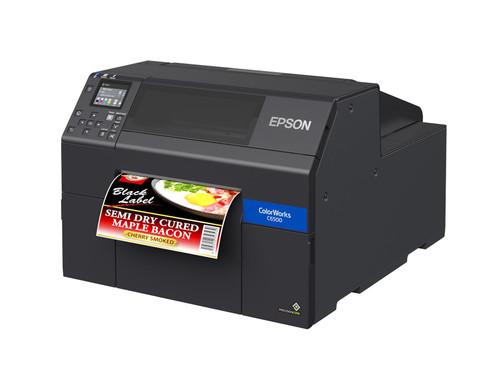 "Epson ColorWorks CW-C6500A Gloss Colour Inkjet Label Printer Autocutter 8"""