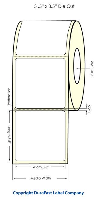 """Primera LX900 3.5"""" x 3.5"""" High Gloss Label Roll"""