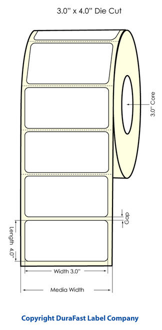 "Primera LX900 3"" x 4"" NP High Gloss Label Roll"