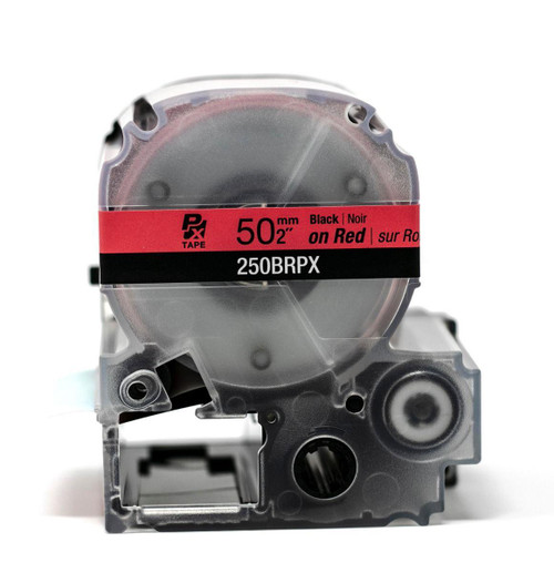 "Epson/K-Sun Z-Series 50MM 2"" X 26.2' BLACK ON RED PET TAPE 8M"