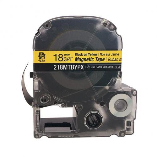"Epson/K-SUN 218MTBYPX-4.9 BLCK ON WHT PX Label Tape 3/4""/18MM Magnet Tape"