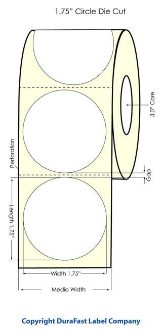 "Primera LX900 1.75"" Circle High Gloss Label Roll"